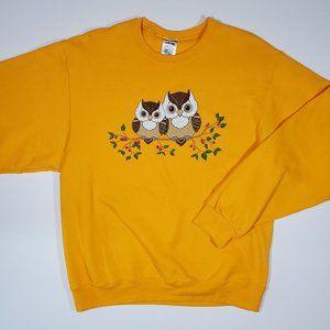 Kitschy Owls Grandma Cottagecore Yellow Sweatshirt